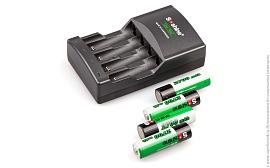 Зарядное устройство Soshine SC-U1 и 4 аккумулятора AA